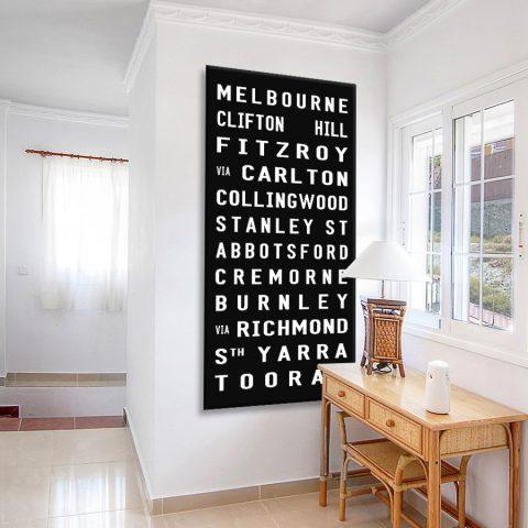 Buy Melbourne Tram Signs Artwork Australia
