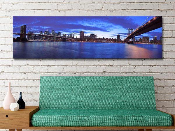 Manhattan Skyline Canvas Artwork