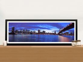 Manhattan Skyline Framed Wall Art