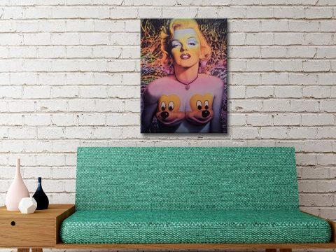 Marilyn Ron English Canvas Art