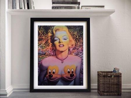 Marilyn Ron English Framed Wall Art