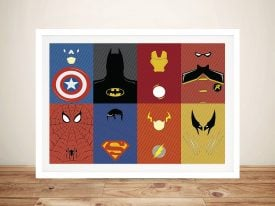 Marvel Characters DC Comics Framed Wall Art