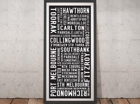 Melbourne Modern Bus Roll Sign Print