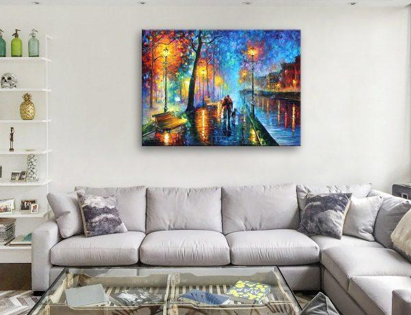 Buy Melody Of The Night Afremov Canvas Artwork Australia