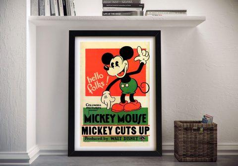 Mickey Mouse Framed Wall Art
