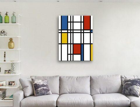 Mondrian Art Canvas Artwork