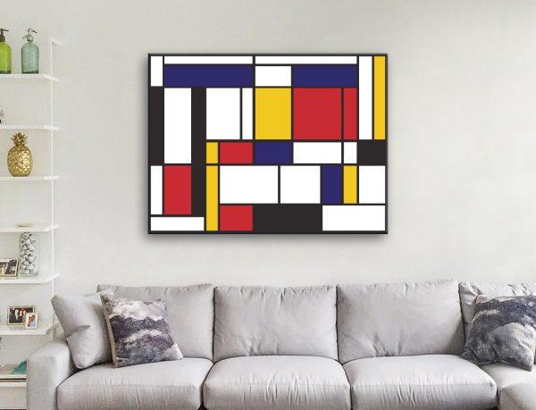 Buy Affordable Mondrian Canvas Art Online