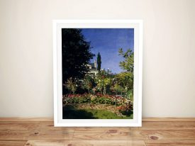 Monet Garden In Flower At Sainte Adresse Art Print on Canvas