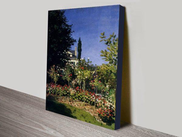 Monet Garden In Flower At Sainte Adresse Photo Canvas