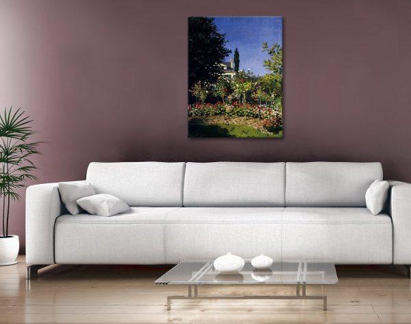 Claude Monet Garden In Flower At Sainte Adresse Canvas Art Australia
