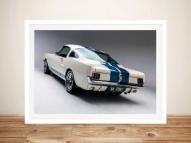 White Mustang Wall Art