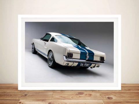 White Mustang Wall Art