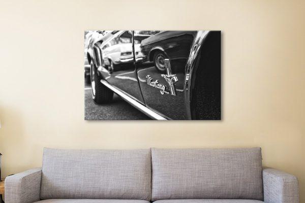 Monochrome Mustang Car Art Gift Ideas AU