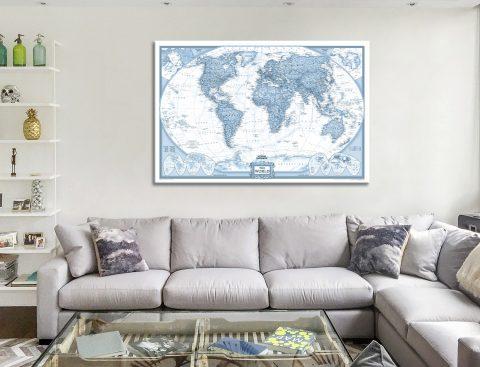 World Map Canvas Artwork