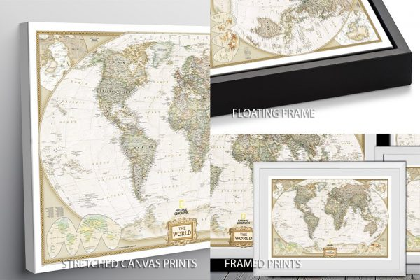 National Geographic Map Quality Print