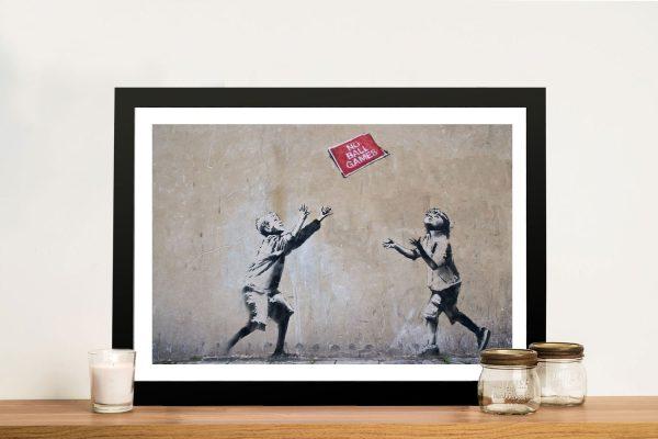 Banksy Art No Ball Games Print