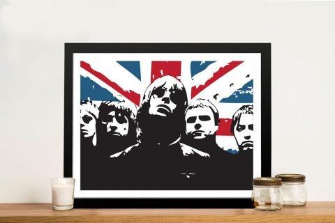 Framed Affordable Oasis Union Jack Wall Art