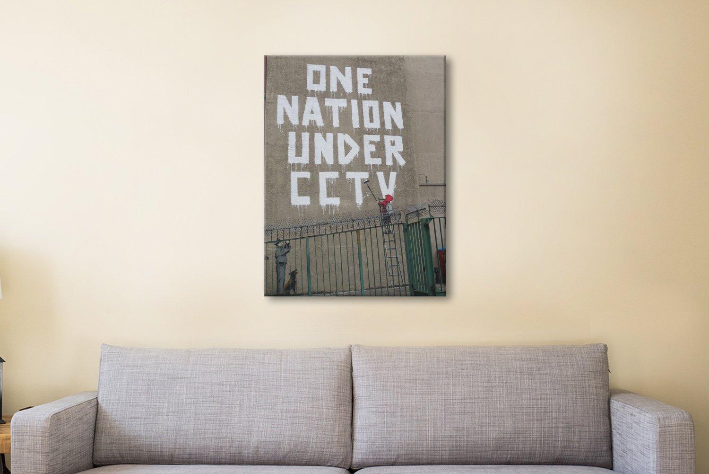 One Nation Ready to Hang Banksy Wall Art