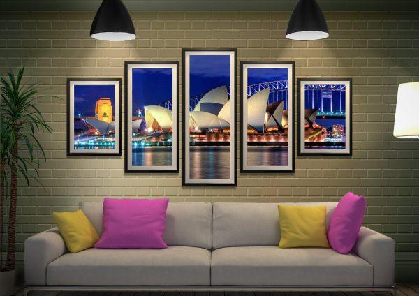 Sydney Opera House Affordable Split Panel Art