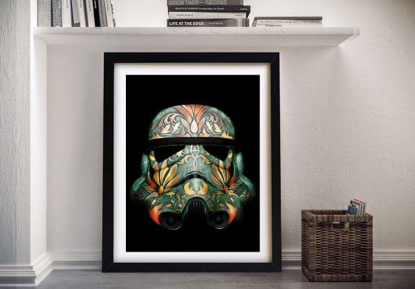 Painted Stormtrooper Framed Wall Art