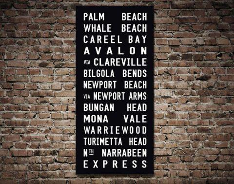Palm Beach Tram Sign Art