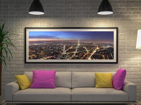 Buy Paris by Night Panoramic Canvas Art