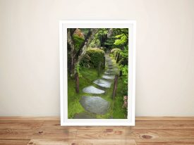 Path of serenity Framed Wall Poster