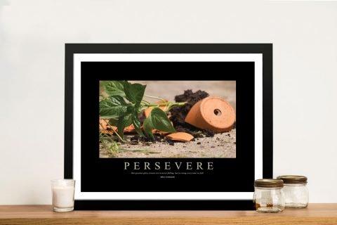 Persevere Motivational Framed Wall Art