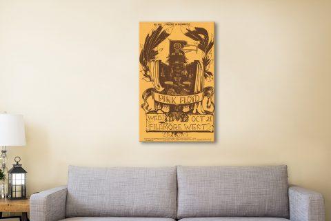 Pink Floyd Fillmore Poster Canvas Artwork