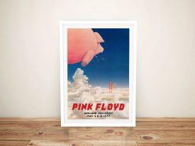Pink Floyd Concert Poster Framed Art Melbourne