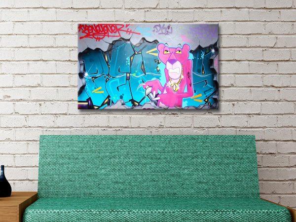 Buy Affordable Pink Panther Graffiti Wall Art