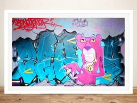 Buy a Pink Panther Graffiti Print on Canvas