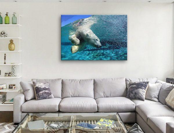 Buy a Ready to Hang Polar Bear Framed Print