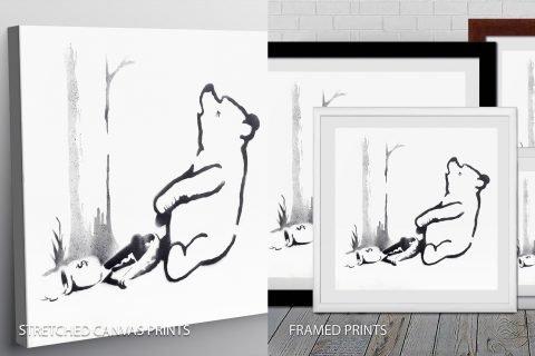Pooh bear Quality Print