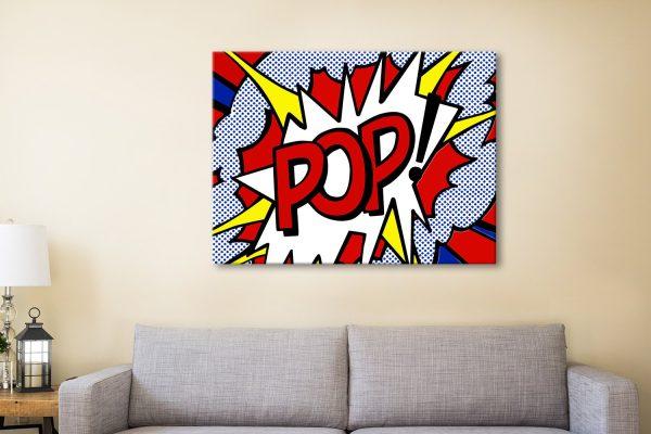 Pop Comic Book Canvas Artwork