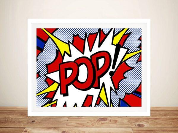 Pop Comic book Framed Wall Art Sydney