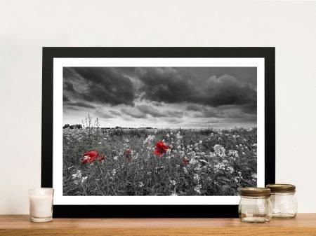 Red Poppy Field Canvas Art
