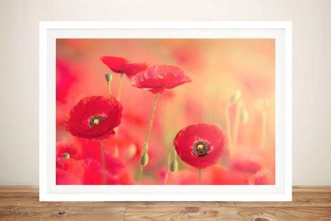 Framed Poppy Dreams Affordable Floral Art