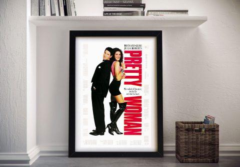 Framed Pretty Woman Vintage Movie Poster
