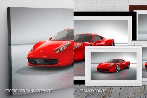 Red Ferrari Quality Print