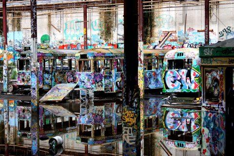Glebe Tram Depot Graffiti Photos Art