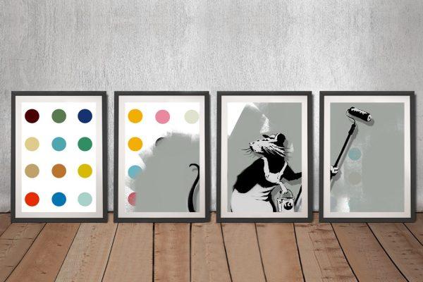 Buy Affordable Banksy Split Canvas Prints AU
