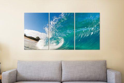 Waves 3 Panels Canvas Prints