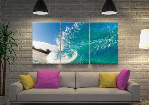 Rolling Waves 3 Piece Canvas Art