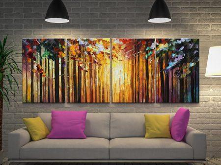 Sun of January 4 Panel by Leonid Afremov