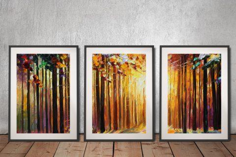 Buy Affordable Leonid Afremov Triptych Art