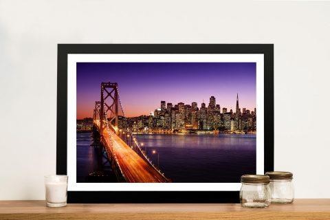 Buy a Framed San Francisco Skyline Print