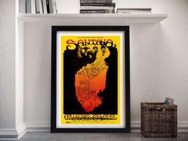Buy a Greg Irons Santana Concert Poster Print