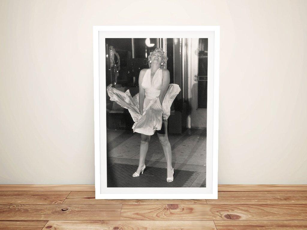 Framed Marilyn Monroe Black & White Pop Art