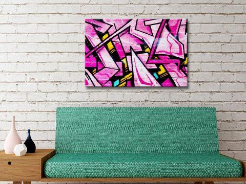 Buy Shades of Pink Street Art Print Australia